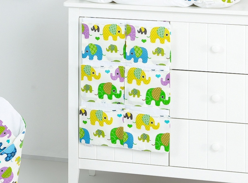 Mamo Tato Vreckár 40 x 65 cm. Slony zelené