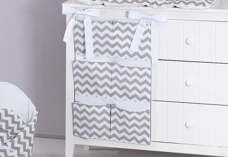 Mamo Tato Vreckár 40 x 65 cm - Zigzag sivý