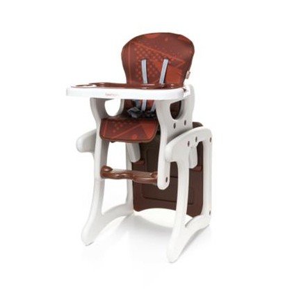 Jedálenský stolček 4 BABY FASHION - hnedý