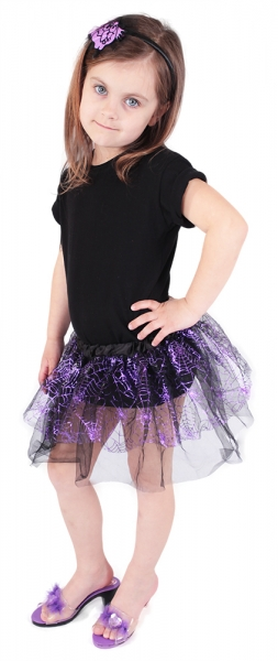 Rappa Sukne čarodejnícke / Halloweenska s čelenkou