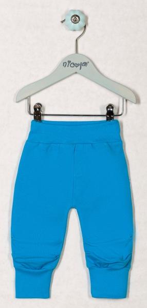 Tepláčky, nohavice KORYTNAČKA - modré, roz. 62-62 (2-3m)