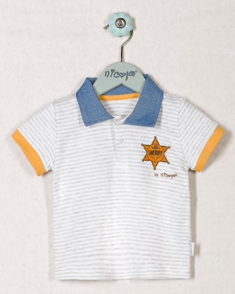 Bavlnené tričko WESTERN - krátky rukáv, roz. 62-62 (2-3m)