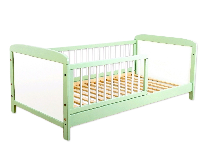 Detská juniorská posteľ / postieľka Nellys - zelená / biela
