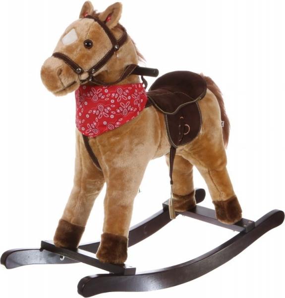 Eco toys Hojdací koník so zvukmi Western