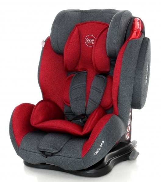 Coto Baby Autosedačka 9-36kg Salsa Isofix- Red / Melange - 2018