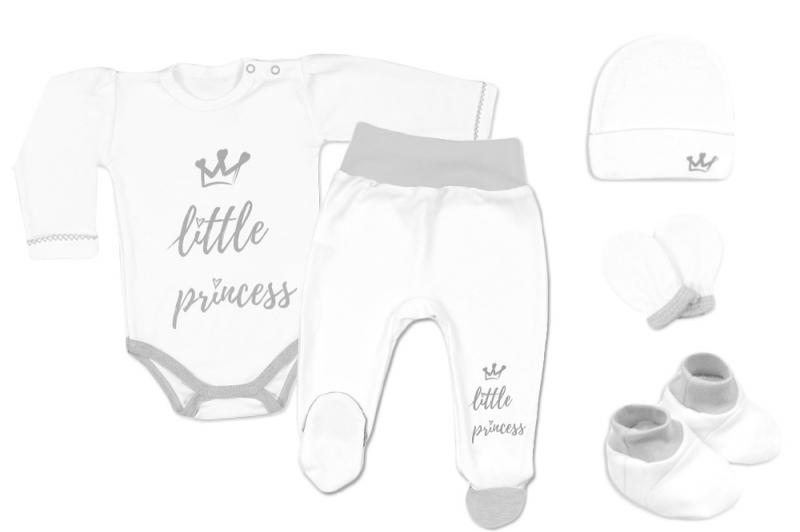 Baby Nellys Súpravička do pôrodnice Princess - biela