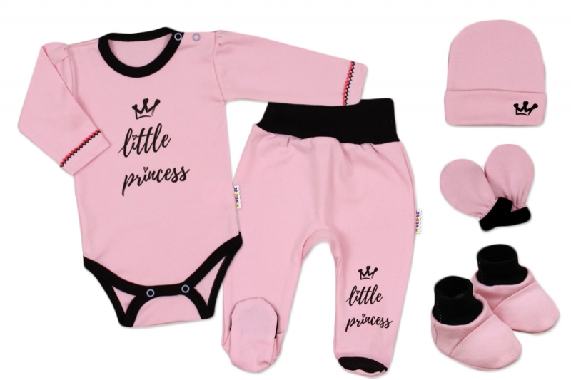 Súpravička do pôrodnice Princess - ružový, veľ. 56