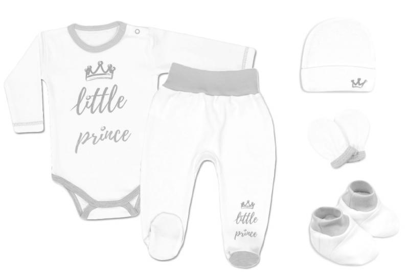 Baby Nellys Súpravička do pôrodnice Prince - biely-56 (1-2m)
