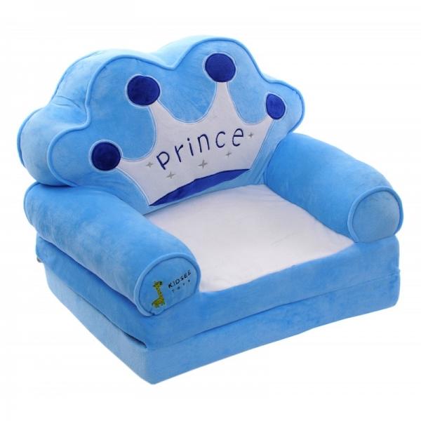 Plyšové kresielko rozkladacie 3v1  - Prince