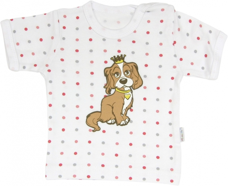 Bavlnené tričko Psík - krátky rukáv, roz. 92