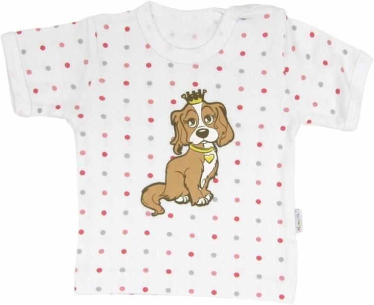 Mamatti Bavlnené tričko Psík - krátky rukáv, roz. 98-98 (24-36m)