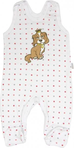 Dojčenské bavlnené dupačky Psík, roz. 74-74 (6-9m)
