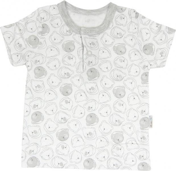 Mamatti Bavlnené tričko/polo Veselí medvedíky - krátky rukáv, roz. 74-74 (6-9m)