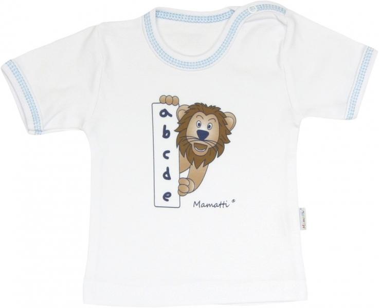 Bavlnené tričko Lev prúžok - krátky rukáv, roz. 80