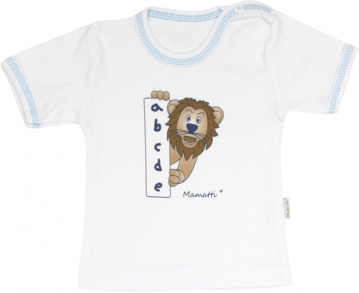 Mamatti Bavlnené tričko Lev prúžok - krátky rukáv, roz. 92-92 (18-24m)