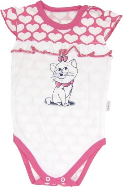 Body Mačka Srdiečko - na ramienka, roz. 98-98 (24-36m)