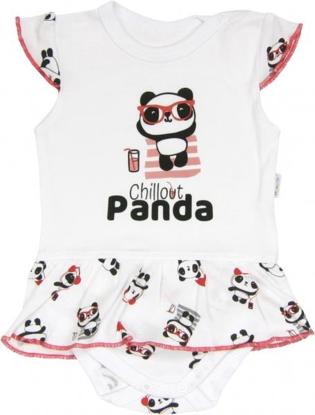 Sukničkobody Panda - krátky rukáv-68 (4-6m)