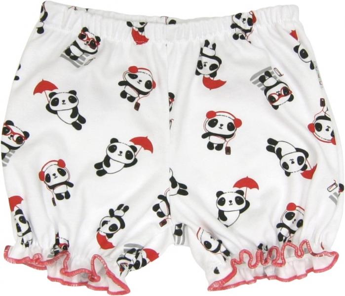 Mamatti Bavlnené nohavičky, kraťasky Panda, roz. 86-86 (12-18m)