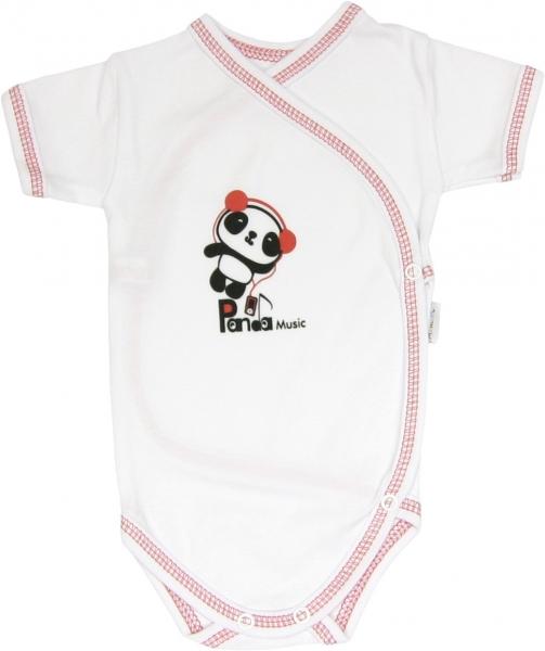 Body Panda - krátky rukáv - zapínanie bokom-56 (1-2m)