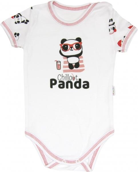 Mamatti Body Panda - krátky rukáv, roz. 92-92 (18-24m)