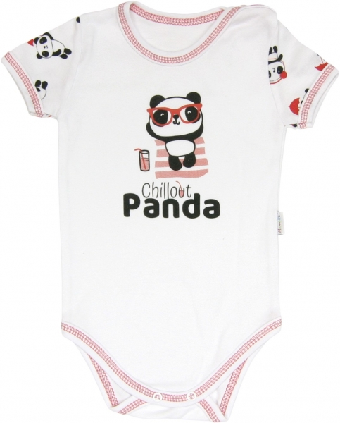 Mamatti Body Panda - krátky rukáv, roz. 98