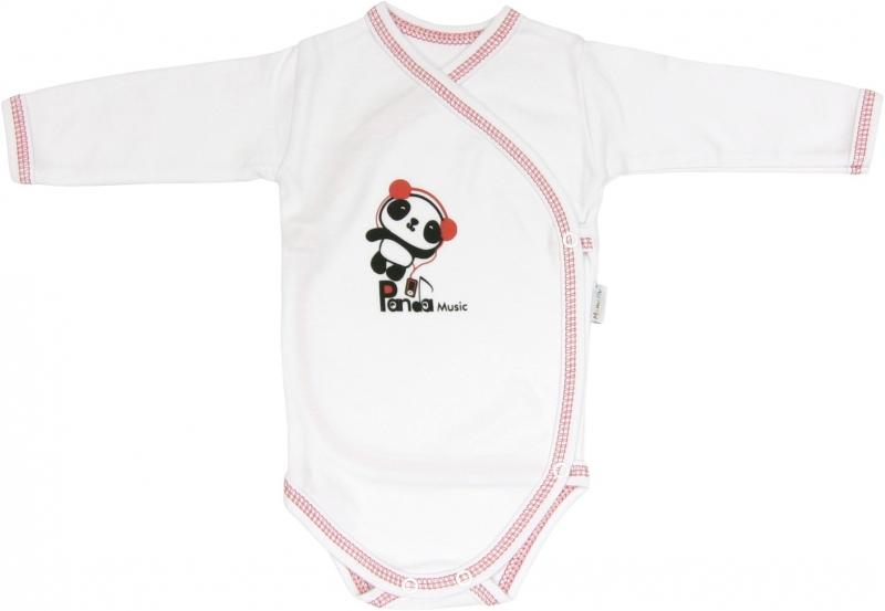 Body Panda - dlhý rukáv - zapínanie bokom-56 (1-2m)