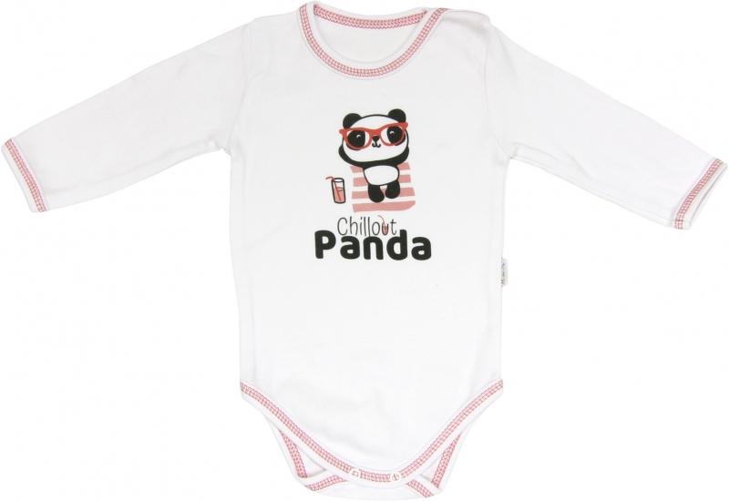 Mamatti Body Panda - dlhý rukáv, roz. 92-92 (18-24m)