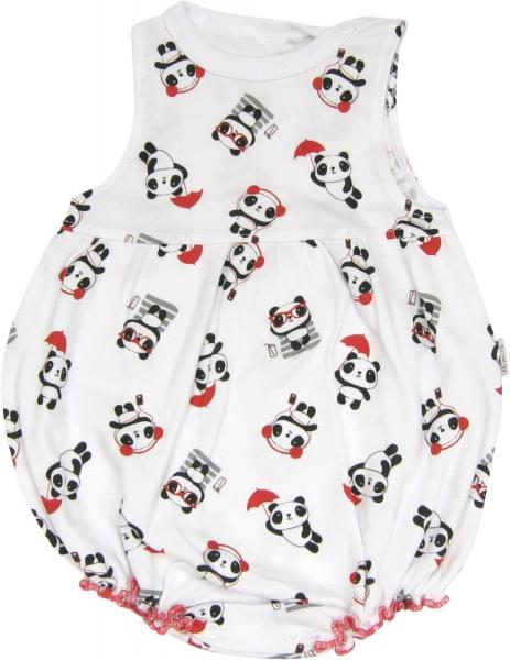 Body s nohavičkami Panda - na ramienka, veľ. 86