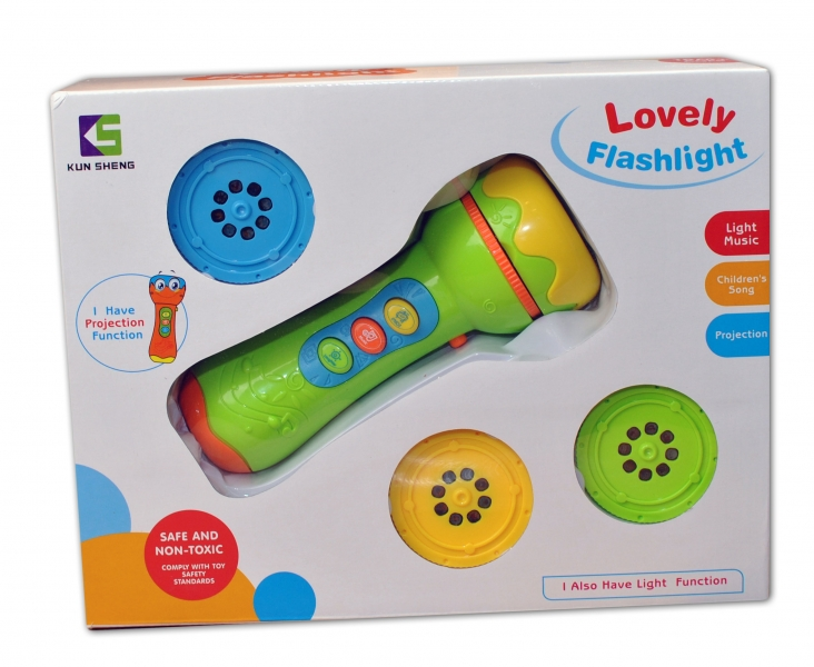Euro Baby Detský projektor - BATERKA - zelený
