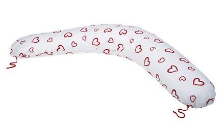 Dojčiace vankúš - relaxačné poduška silikónové duté vlákno PUPPY LOVE červený