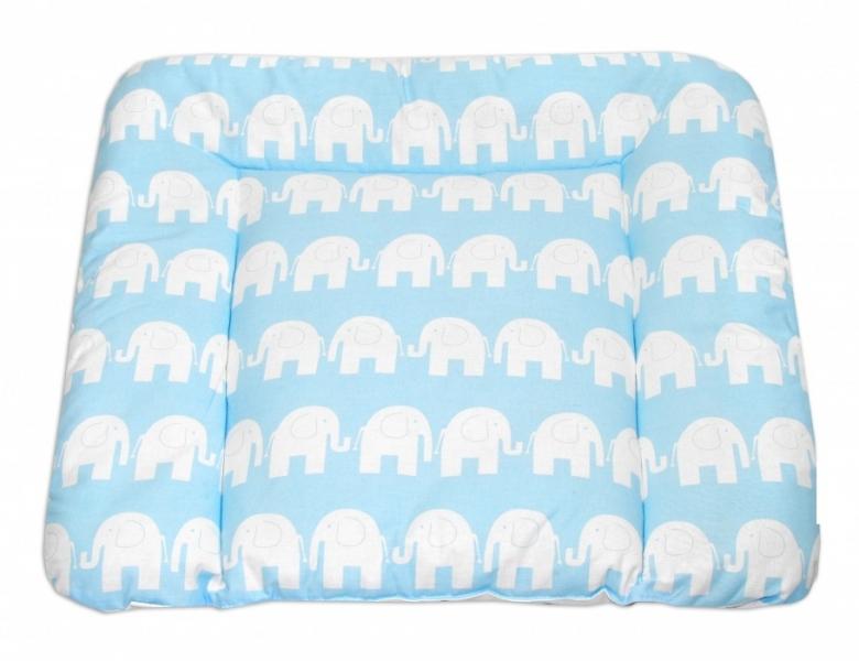 Mamo Tato Prebaľovacia podložka 70x75cm, Slony bieli v modrej