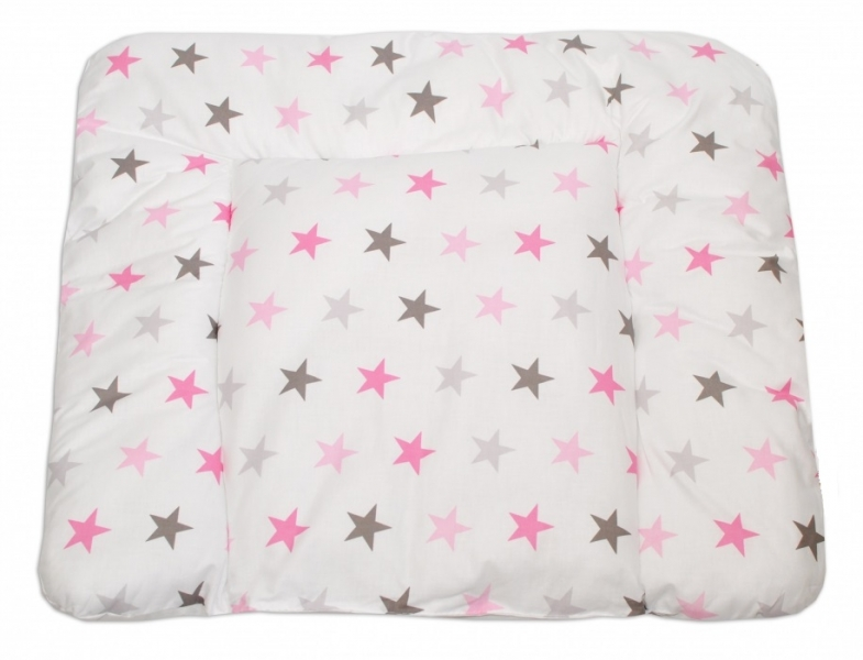 Mamo Tato Prebaľovacia podložka 70x75cm, Hviezdičky ružové, šedé