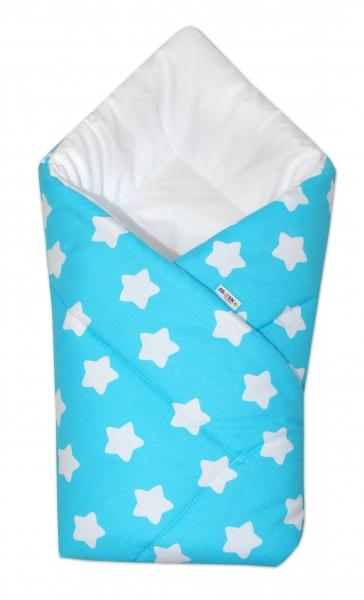 Novorodenecká rýchlozavinovačka - Sweet Stars - tyrkysová