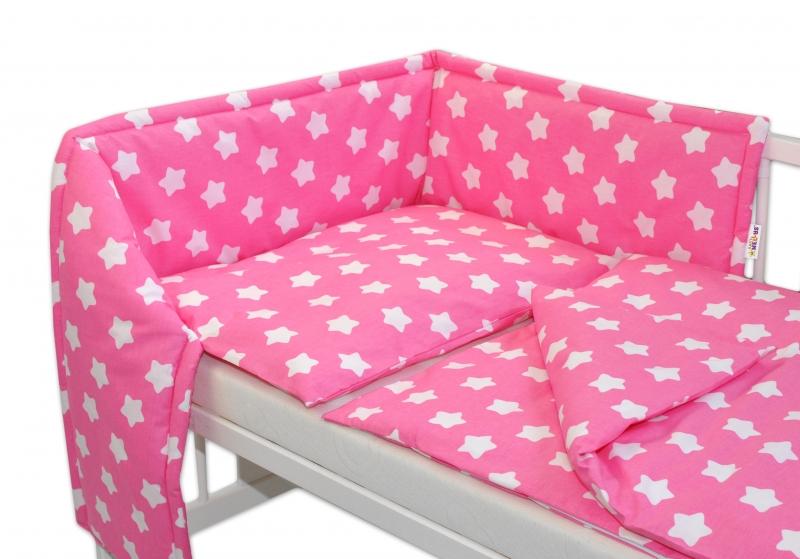 Mantinel s obliečkami - Sweet Stars - ružová, 135x100