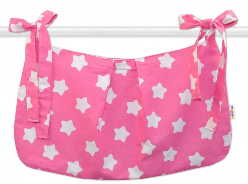 Vreckár na hračky Sweet Stars - ružová