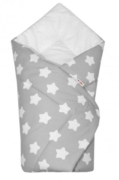 Novorodenecká rýchlozavinovačka - Sweet Stars - sivá