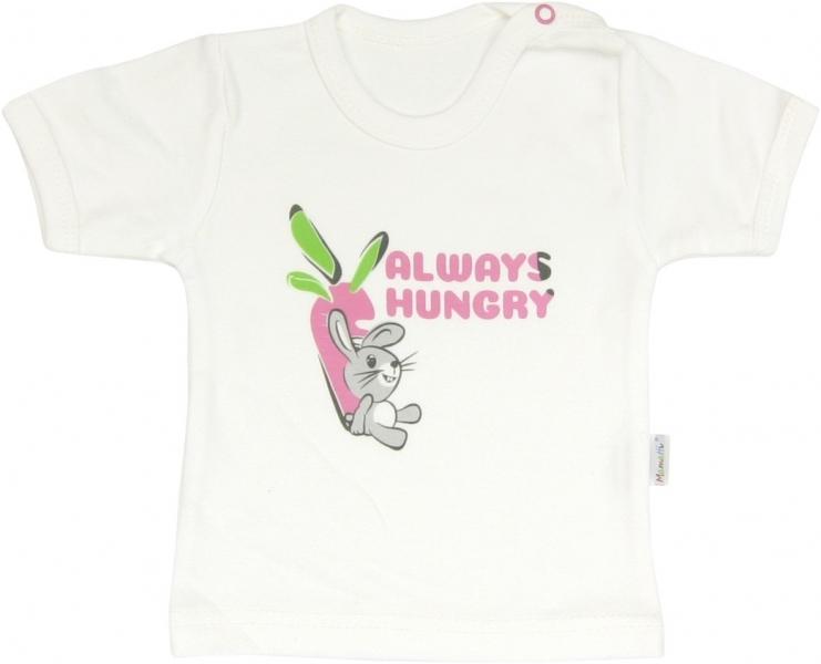 Bavlnené tričko Zajačik - krátky rukáv, roz. 86-86 (12-18m)