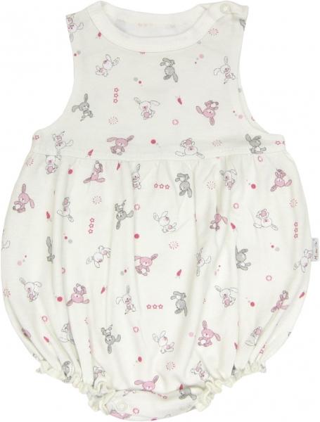 Mamatti Body s nohavičkami Zajačik - na ramienka-68 (4-6m)
