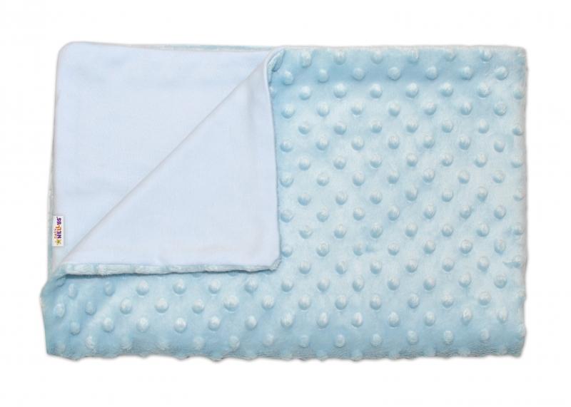 Baby Nellys Luxusná bavlnená dečka Minky Baby - sv. modrá