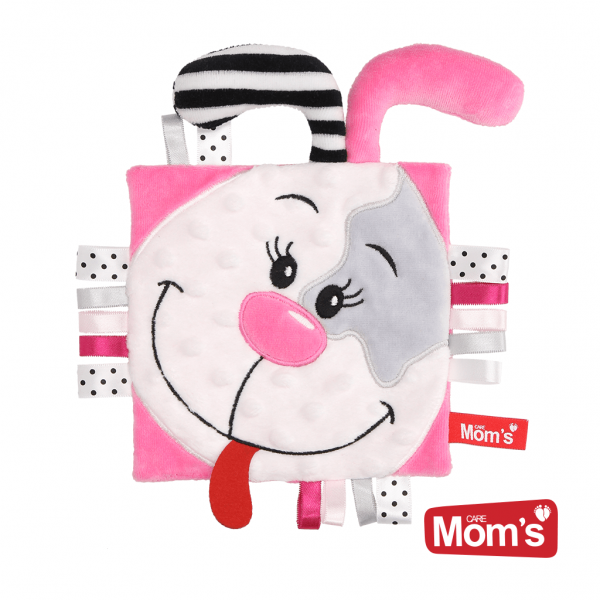 Edukačná hračka šustík Psík Pinky