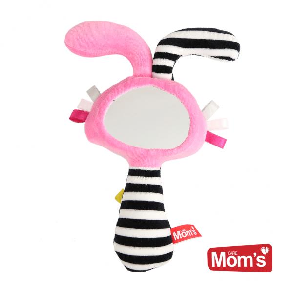 Hencz Toys Edukačná hračka Zrkadlo s pískátkem - ružové
