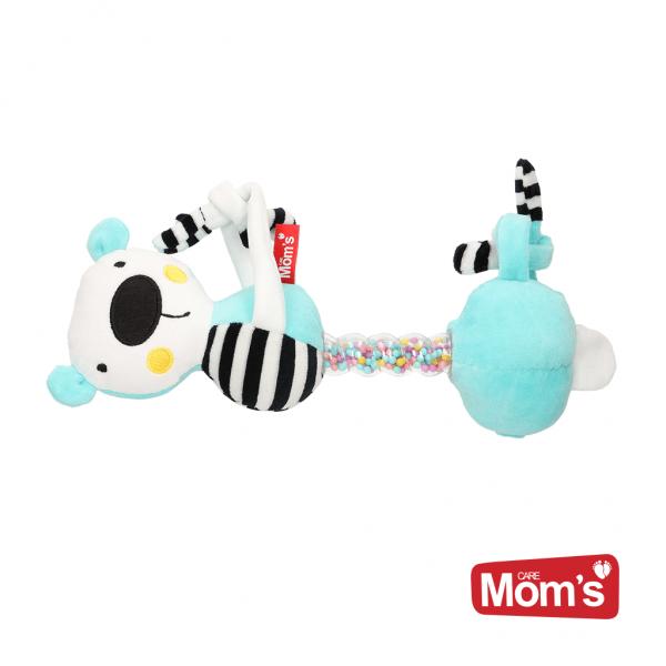Hencz Toys Edukačná hračka závesná s hrkálkou Macko - tyrkysový