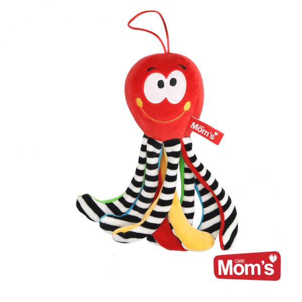Edukačná hračka Chobotnička s rolničkou - červená