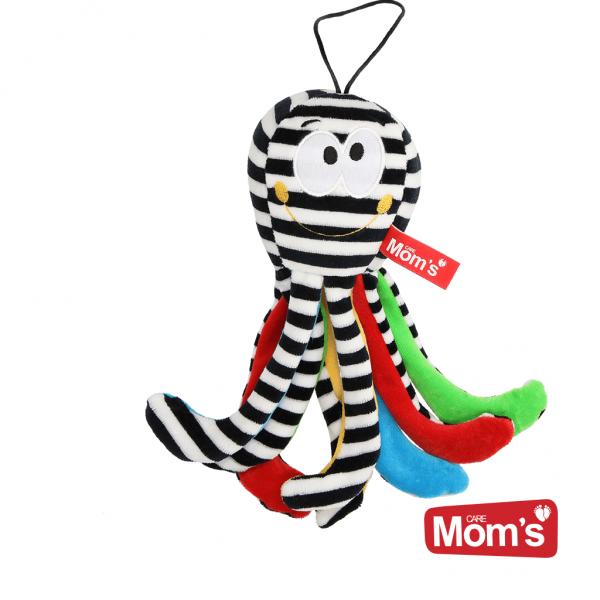 Hencz Toys Edukačná hračka Chobotnička s rolničkou - bielo/čierná