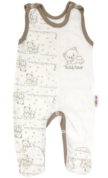Baby Nellys Dojčenské bavlnené dupačky - Baby Teddy, veľ. 56