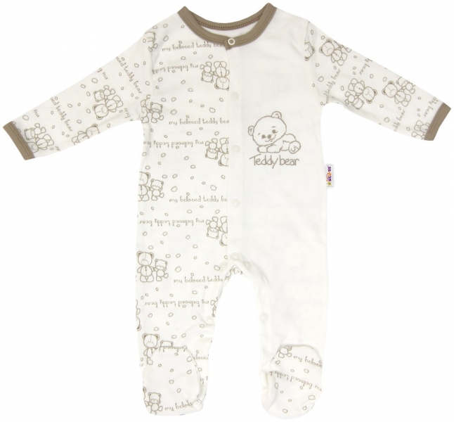 Baby Nellys Dojčenský bavlnený overal pre predčasne narodené deti Baby Teddy, veľ. 56