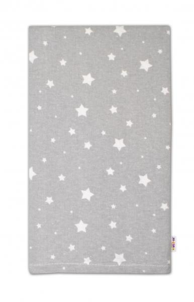Flanelová plienka - Mini hviezdičky biele v šedej