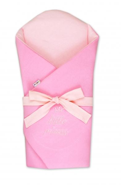 Baby Nellys Novorodenecká zavinovačka s výstužou chrbta Little Princess - sv. růžová