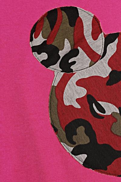Be MaaMaa Tehotenská, dojčiace nočná košeľa Minnie, XXL - rúžová