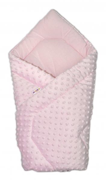 Luxusná zavinovačka Minky Baby - ružová